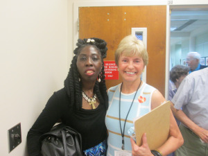 Queen Quet & Marilyn of Friends of the Beaufort County Libraries