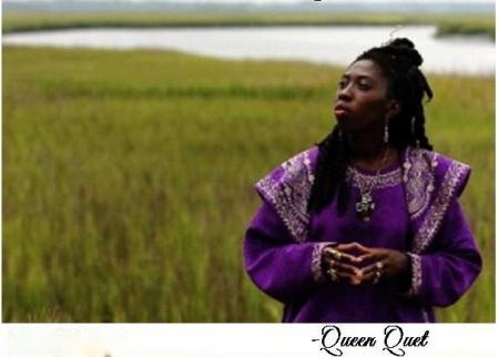 Queen Quet Regally on the Marsh