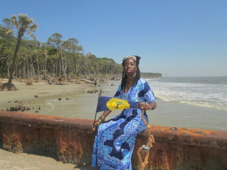 Queen Quet, Chieftess of the Gullah/Geechee Nation at the Atlantic Ocean