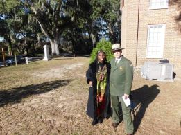 Queen Quet and NPS Director Jarvis at Brick Baptist Church