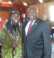 Queen Quet and Congressman James Clyburn at Darrah Hall